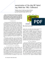 2013 Broadband Characterization of on-chip RF Spiral Inductor Using Multi-line TRL Calibration