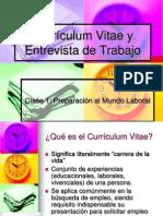 Currículum Vitae y Entrevista de Trabajo Clase 1