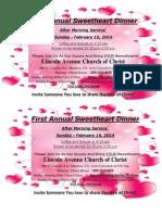 Free Valentines Dinner After Service