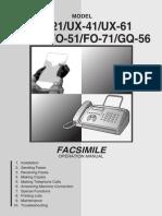 Telefax FO11 Manual