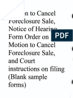 Motion to Cancel Foreclosure Sale - Form Motion
