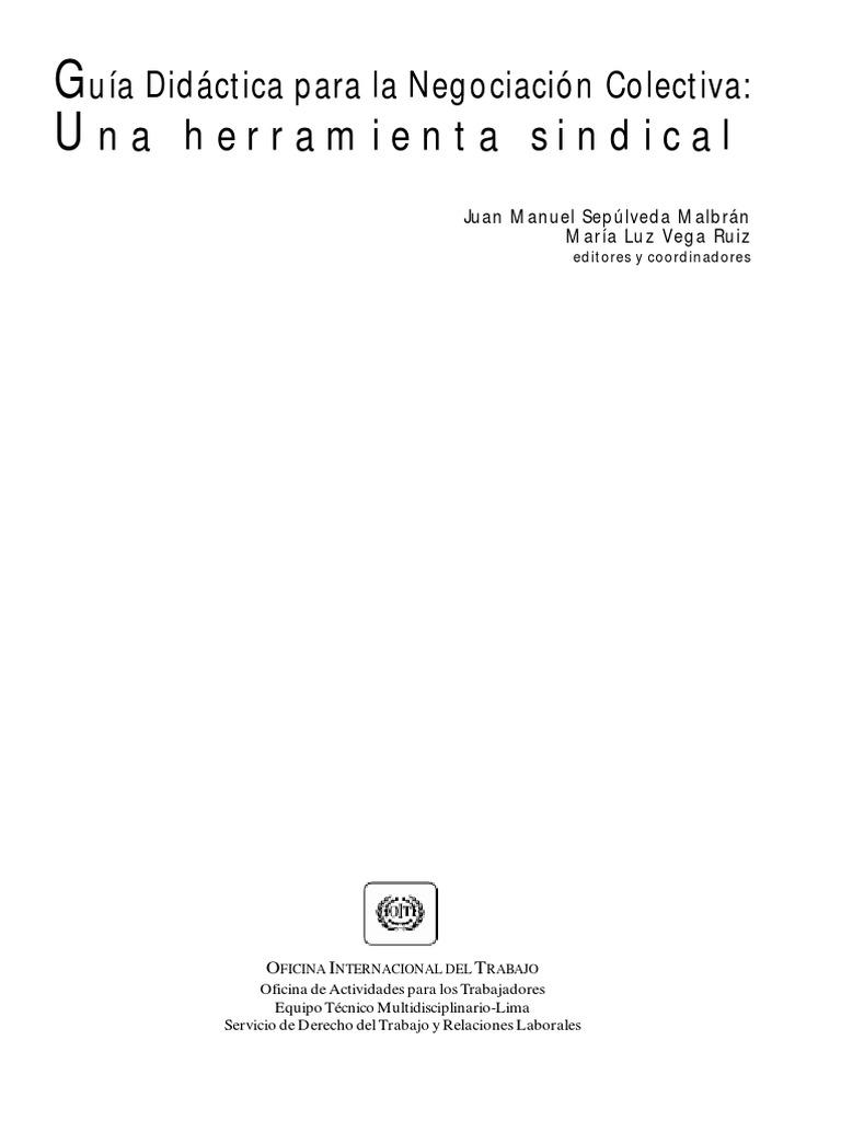 guía didáctica para la negociación colectiva