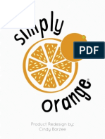 Simply Orange Juice Redesign Book