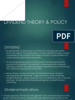 Dividend Theory and Policy