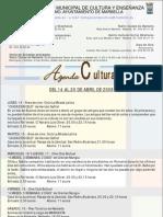Información semanal cultura del 14 al 20 de abril