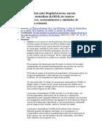 Guía de Actuación Ante Staphylococcus Aureus Resistente a Meticilina