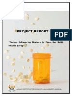 Project report on Factors influencing Doctors to Prescribe multivitamin syrup