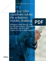 How Four Citrix Customers Solved the Enterprise Mobility Challenge