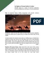 Incredible Sights of Camel Safari in India