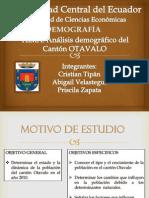 Demografia, Canton Otavalo, Grupo #13 Ecuador