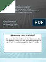 Procesos de Fabricacion (Procesos de soldadura)