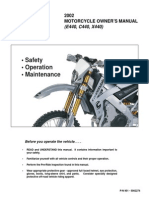 2002 Cannondale E440 C440 Owners Manual