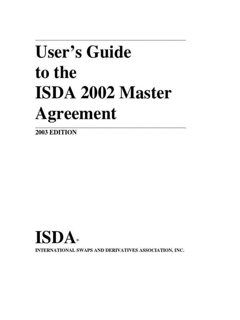 Ug To 2002 Isda Master Agreement Derivative Finance Swap Finance