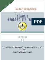 Geologi Air Tanah