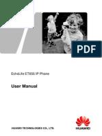 EchoLife ET655 IP Phone User Manual (V100R001C01LENT02_01).pdf
