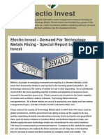 Electio Invest Demand for Technology Metals Rising