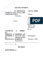 Filipinas Life Assurance Co. v Pedroso