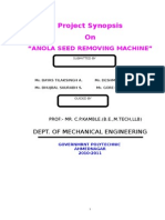 Anola Seed Removing Machine