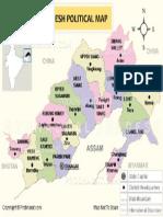 Arunachal Pradesh Political Map