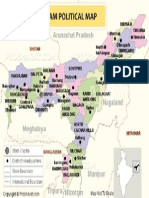 Assam Political Map