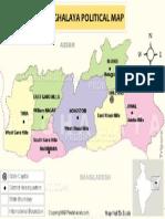 Meghalaya Political Map