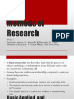 Methods of Research Week 3-F