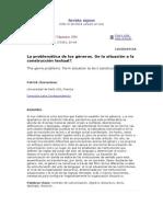 CHARAUDEAU- La Problemática de Los Géneros. de La Situación a La Construcción Textual