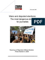Wars and disputed elections