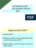 Kursus Orientasi Dskp Pendidikan Jasmani Tahun 4 2013