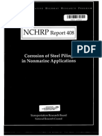 NCHRP Report 408 - Corrosion of Steel Piling in Nonmarine Environment