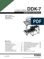 Yamaha Electone DDK7 Service Manual