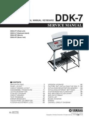 Yamaha Electone DDK7 Service Manual | Equalization (Audio) | Solder