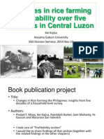 Changes in rice farming profitability over five decades in Central Luzon
