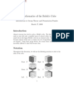 Rubiks cube solution and mathematical basis