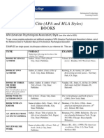 Cite (APA and MLA Styles) Books