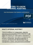 Getting to Know Internal Auditing - IIA