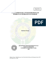 Model Kerjasama Antar Daerah Dalam Pembiayaan Pembangunan Daerah