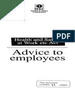 HSWA Advice to Employees