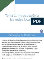 Tema 1 - Introducción a Las Redes Locales