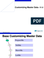 CR1001 Base Customizing Master Data- V1.0