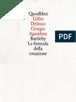Deleuze - Agamben - Bartleby, La Formula Della Creazione