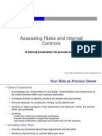 Assessing Risks and Internal Controls - Training