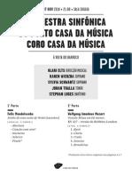 20141107 | Programa de Sala Orquestra Sinfónica & Coro Casa da Música | Mozart Sagrado | Ciclo Barroco BPI