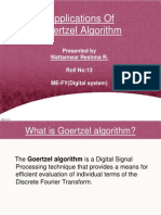 Applications Of Goertzel Algorithm