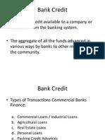 Bank Credit
