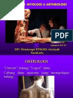 OSTEOLOGI, MYOLOGI & ARTHROLOGI