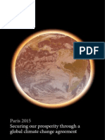 Paris 2015 Securing our prosperity through a global climate change agreement