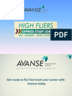 Avanse High Fliers - Express Study Loans