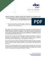 El Pastor y El Popular firman un acuerdo para fianaciar a los empresarios coruñeses