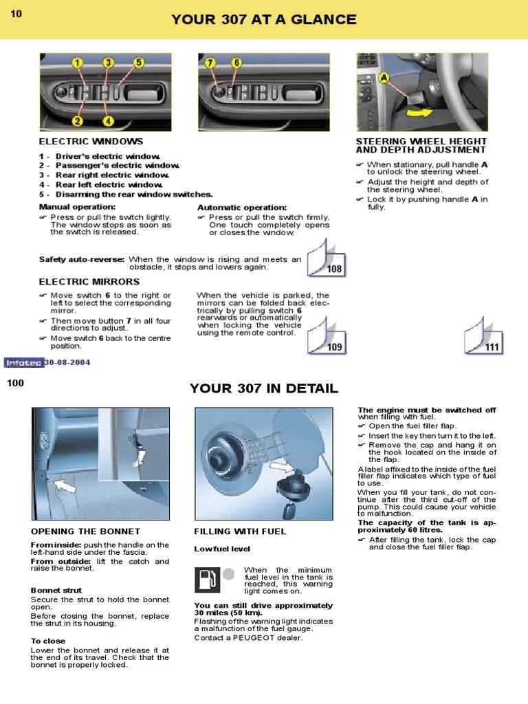 peugeot 307 owners manual 2004. Black Bedroom Furniture Sets. Home Design Ideas